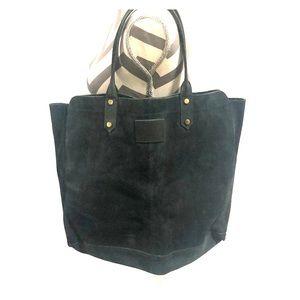 Jack Wills Navy Blue Suede Tote Bag